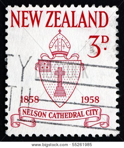 Postage Stamp New Zealand 1958 Nelson Diocese Seal