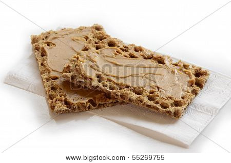 Peanut Butter On Crispbread