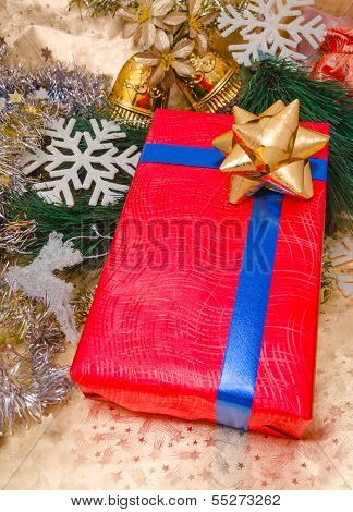 Christmas Presents Box And Ornaments Decoration