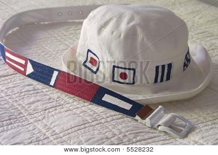 Cinto e chapéu Náutico