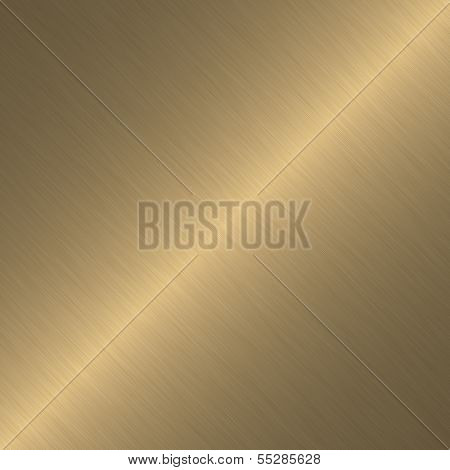 Gold or brass surface with linear gradient