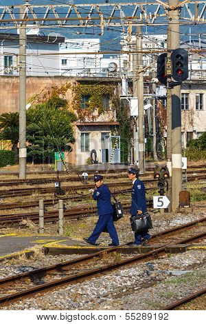 Japanese train Conductors