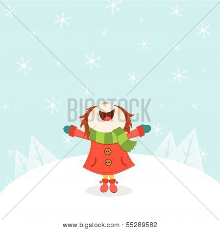 Kid Enjoying Snow