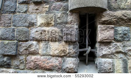 Dungeon Window With Bars