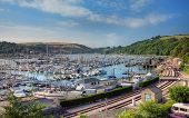 picture of dartmouth  - Sailing boats on the Dart Estuary from Kingswear - JPG