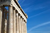 image of parthenon  - Parthenon on the Acropolis in Athens - JPG