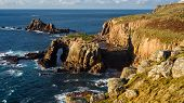 Scenery At Land End Cornwall England