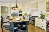 A Luxury Kitchen with Granite Island