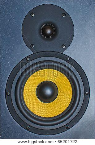 Professional Music Studio Monitor. Close-up.