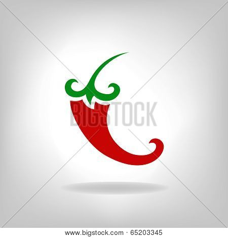 Hot chilli pepper vector isolated