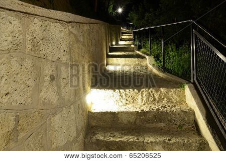 night Park stairs