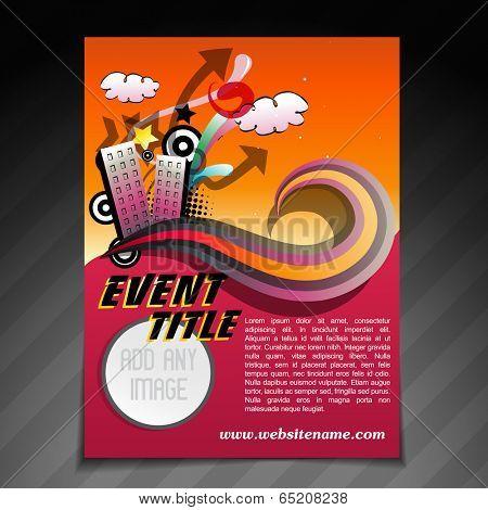 vector event brochure flyer template illustration