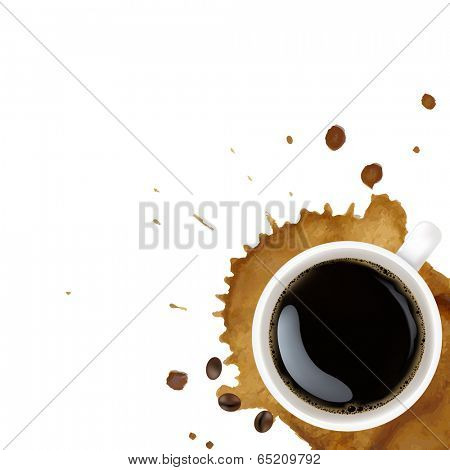 Cup Of Coffee, With Gradient Mesh, Vector Illustration