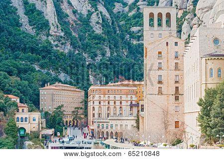 Montserrat Monastery Near Barcelona, Spain