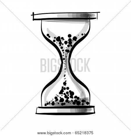 Sand glass clock.