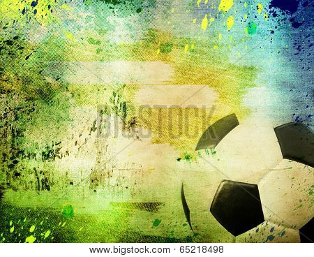 Vintage photo of soccer ball of Brazil 2014