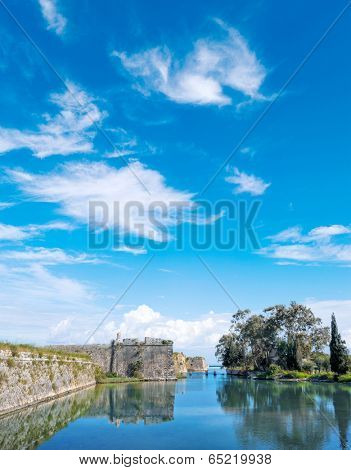 The castle of Lefkada in Greece