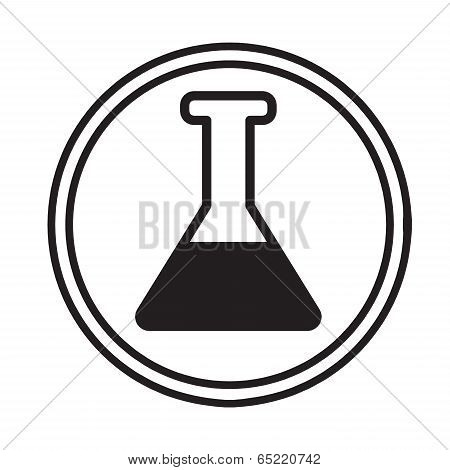 Chemical Glassware Symbol Icon Vector.eps
