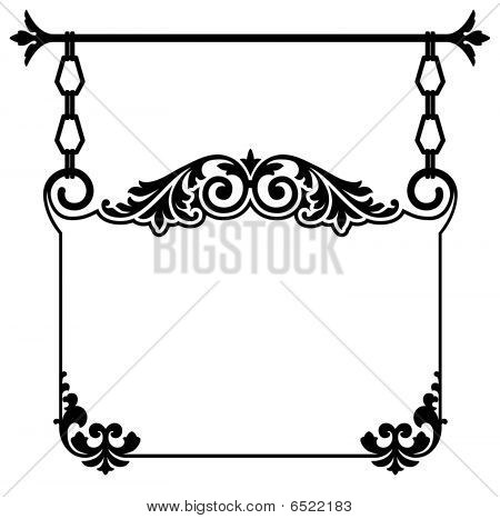 Picture or Photo of Elegant Victorian style calligraphy scrollwork    Victorian Style Borders