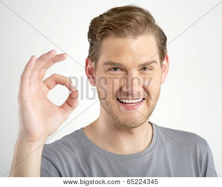 Man Gesturing Ok Sign