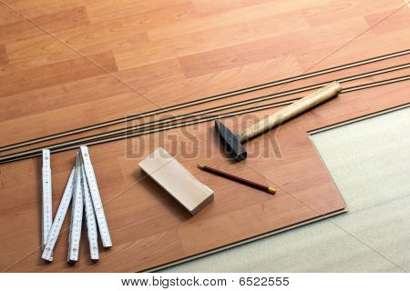Wood Flooring And Tools