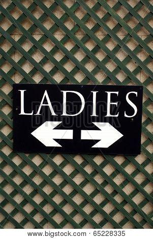WC sign. Ladies toilet sign