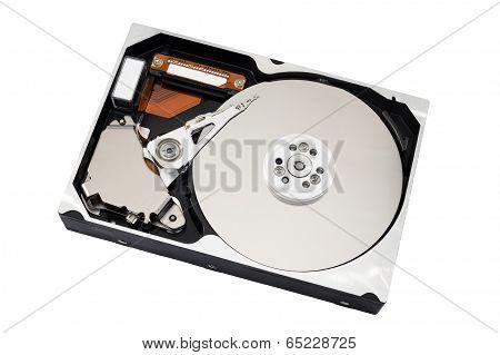 Open Harddisk Isolated On White
