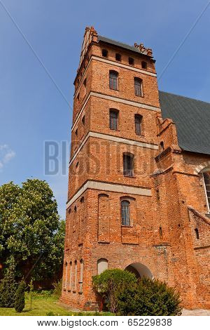 Belfry Of St. Stanislaus Church (1521) In Swiecie Town, Poland