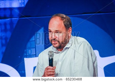 Las Vegas, Nv - May 6, 2014: Ceo Pivotal Paul Maritz Makes Speech At Emc World 2014 Conference On Ma