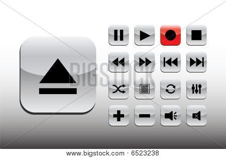 Gray playback set