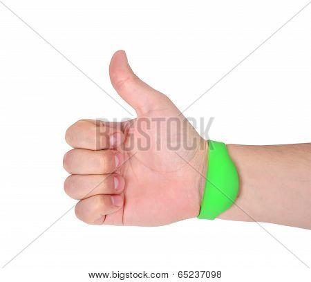 Hand  With Rfid Bracelet