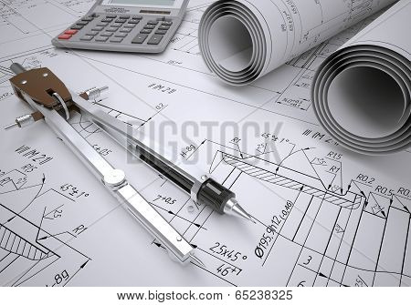 Scrolls engineering drawings and tools