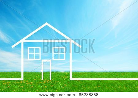 New House Real estate background.  Mortgage concept.