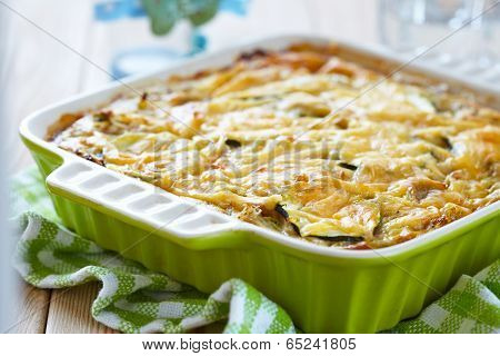 casserole with cabbage and zucchini