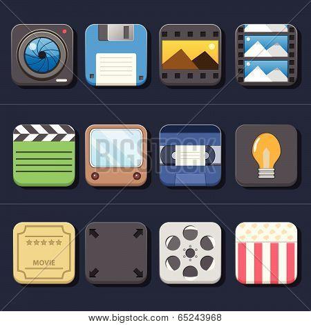High Quality Video Movie Icon Set