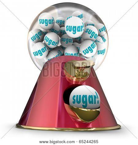 Sugar word gum balls candy dispenser gumball machine