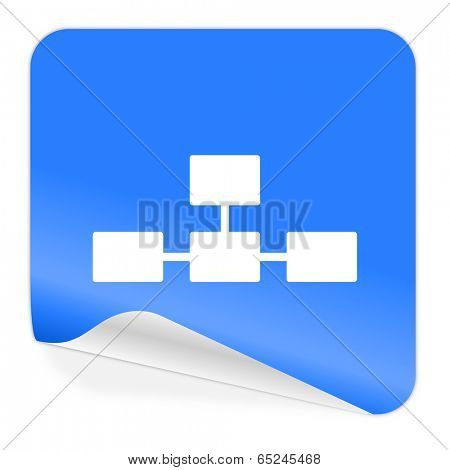 database blue sticker icon