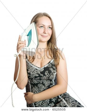 Girl With Electric Iron
