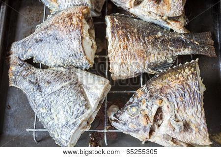 Fresh Tilapia Baked In An Oven.