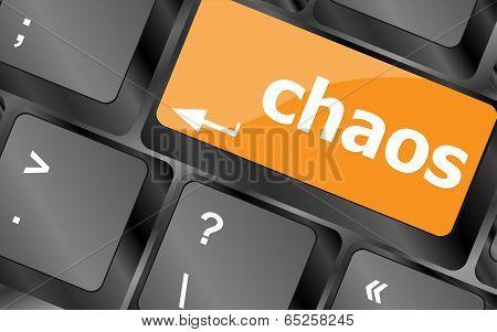 Chaos Keys On Computer Keyboard