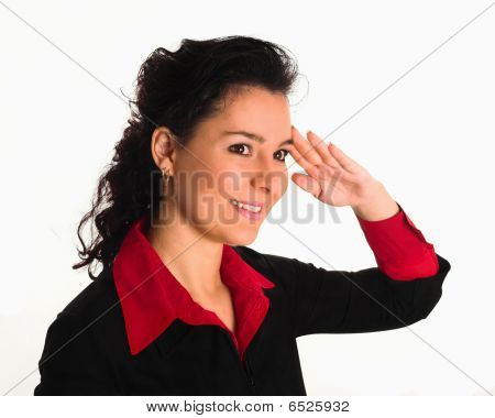 Air Hostess Saluting