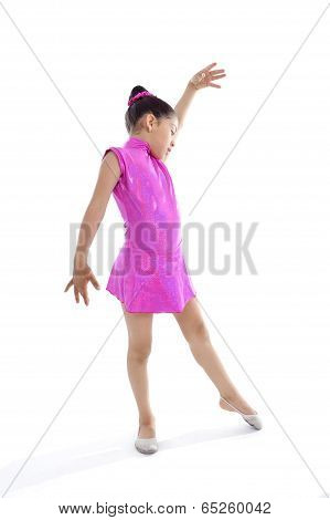 Latin Cute Young Little Girl In Dancing And Ballet Practise