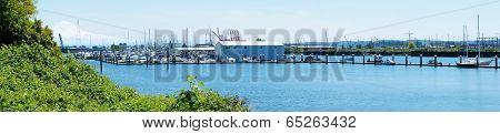Tacoma Browns Point Marina . Panoramic View