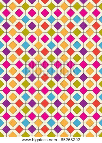 Diamond Pattern Retro Bright