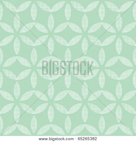 Abstract textile mint green leaves geometric seamless pattern background