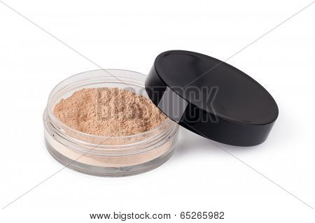 Makeup Powder on a white background
