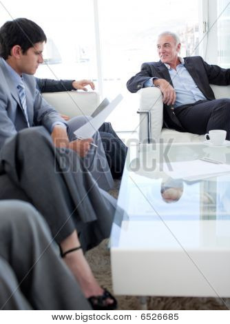 Multi-ethnic Business People Discussing Before A Job Interview