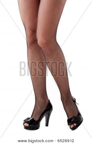 Beautiful Woman Legs In Stockings