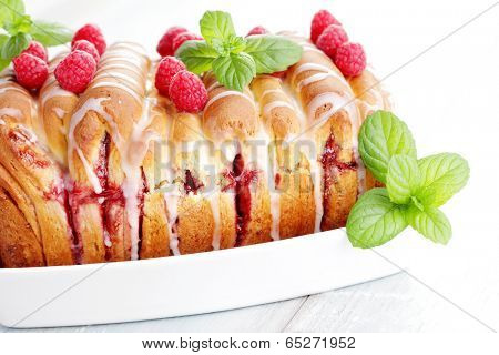 homemade fruity brioche - sweet food