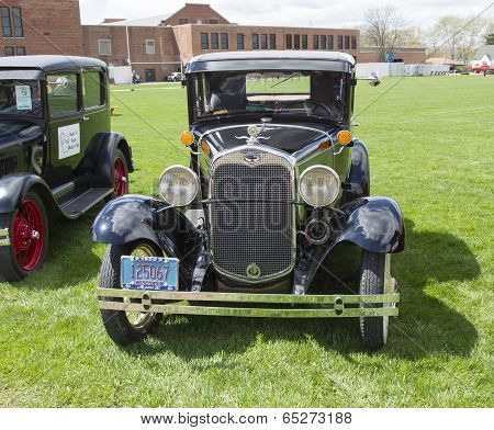 1930 Ford Model A Car Front View